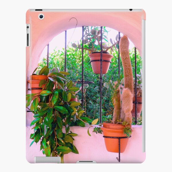 Potted Plants Behind Bars on Porch iPad Snap Case