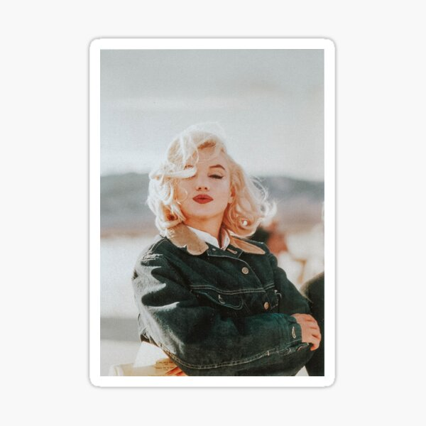 Miss. Monroe on the set of The Misfits Sticker