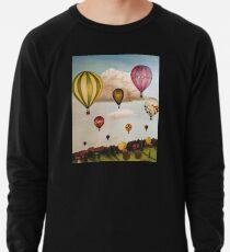 Heißluftballone über New Mexico Leichter Pullover