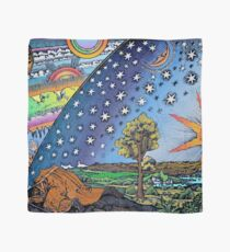 Flammarion Engraving Colorful Scarf