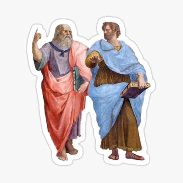 Plato and Aristotle Sticker