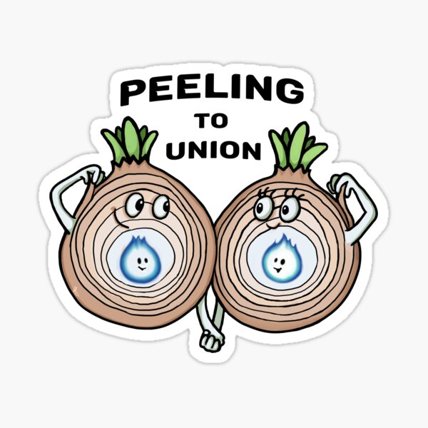 Peeling to Union  Sticker