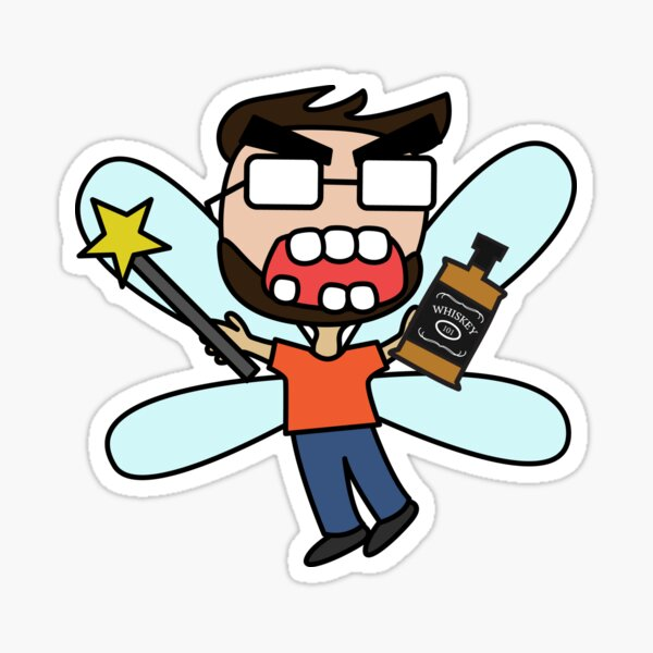angry zombie whiskey fairy kyle Sticker