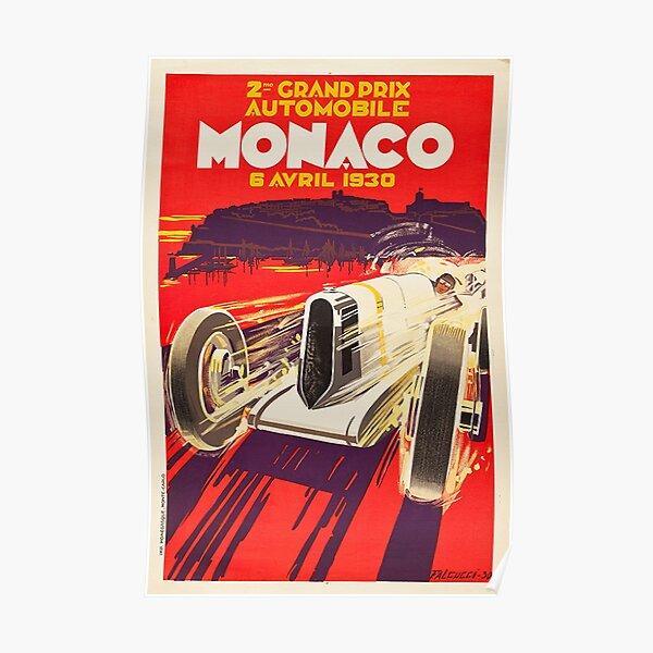 Gran Premio Monaco 1930 Vintage Póster