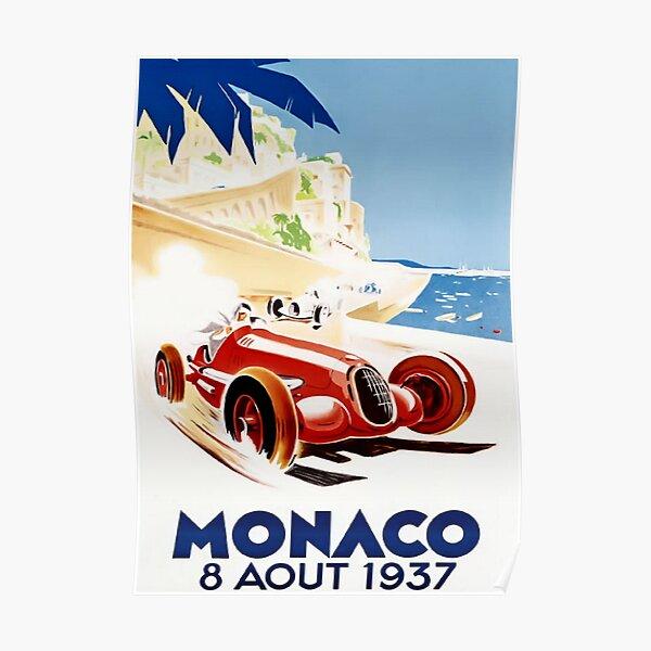 Grand Prix Monaco 1937 Vintage Poster
