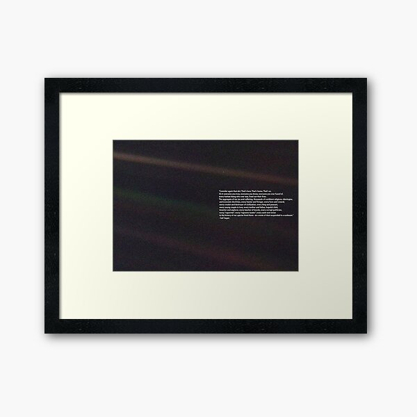 Carl Sagan Pale Blue Dot Quote Framed Art Print