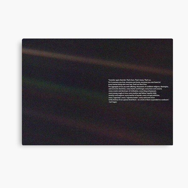 Carl Sagan Pale Blue Dot Quote Canvas Print
