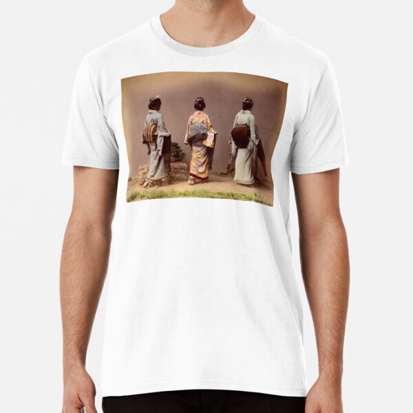 Japanese girls showing Obi Premium T-Shirt