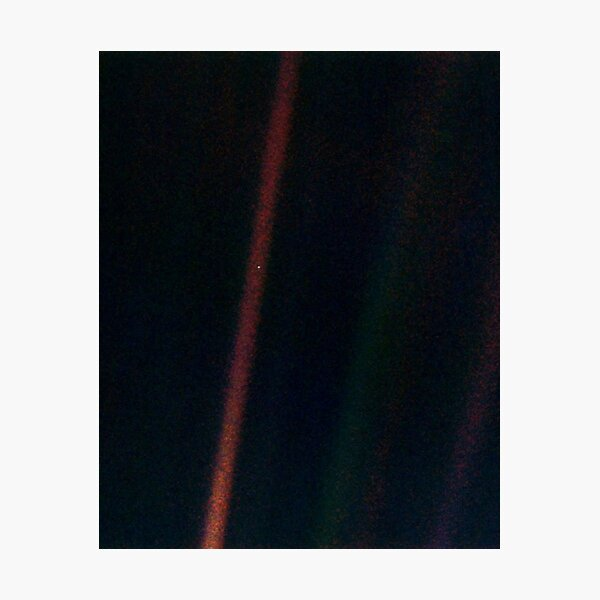 Pale Blue Dot Photographic Print