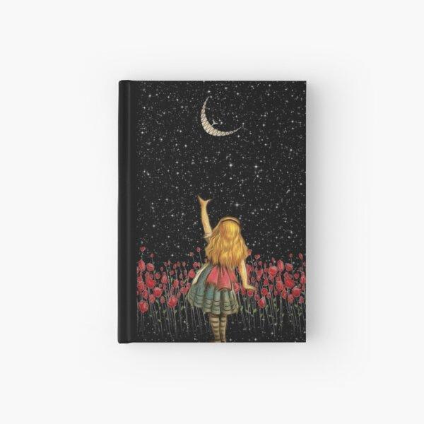 Wonderland Smiling Starry Night - Alice In Wonderland Hardcover Journal