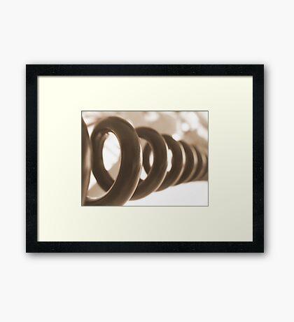 coiled snake Framed Print