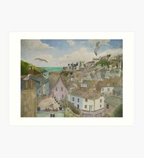 """""""A Crow's Nest View of Port Isaac, Cornwall"""" Art Print"""