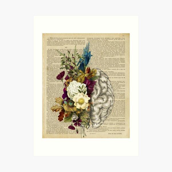 florales Gehirn Kunstdruck