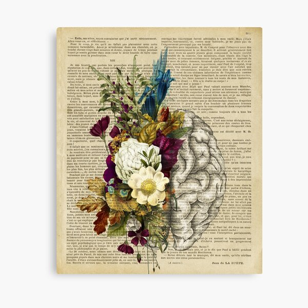 floral brain  Canvas Print
