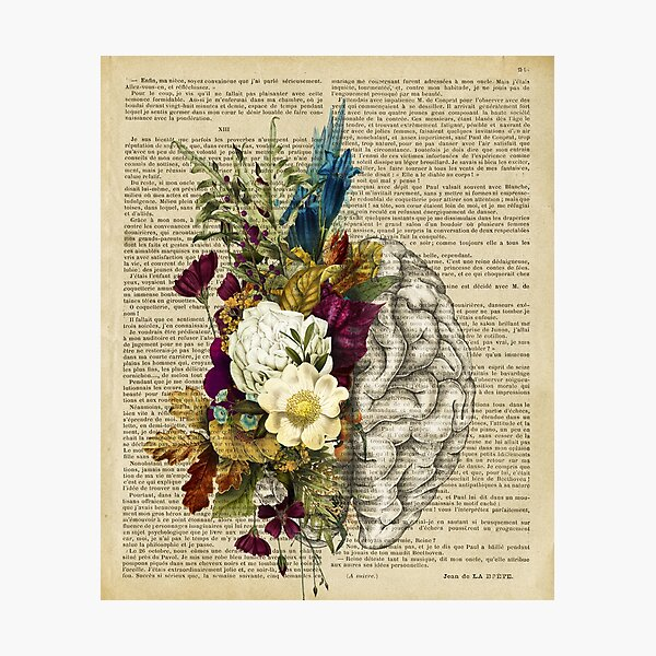 floral brain  Photographic Print