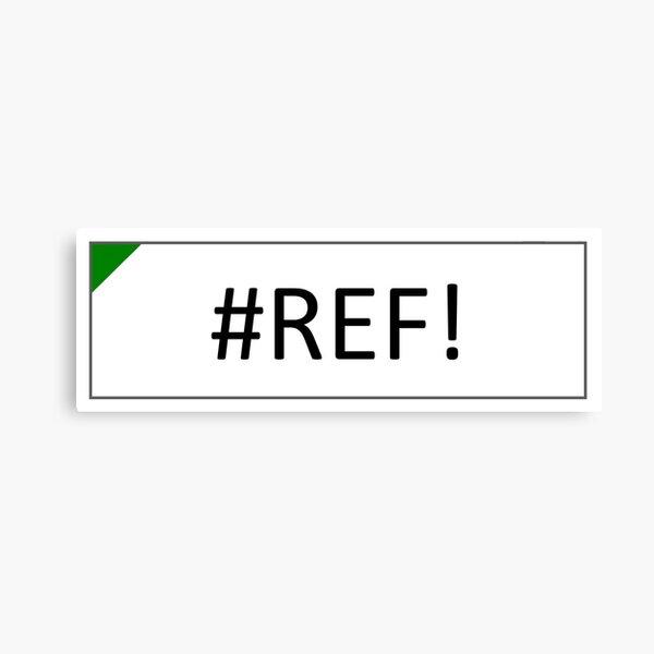 Excel #REF! Error Canvas Print