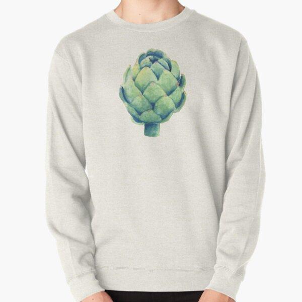 Artichoke in watercolor Pullover Sweatshirt