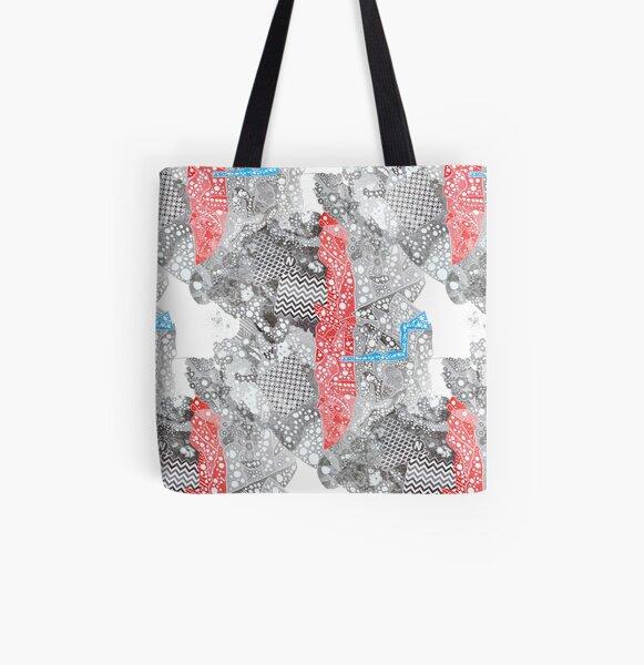 Carrickalinga Map All Over Print Tote Bag