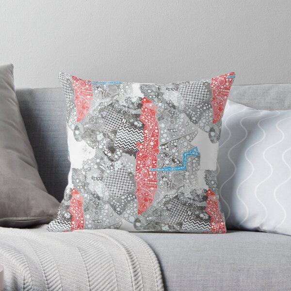 Carrickalinga Map Throw Pillow