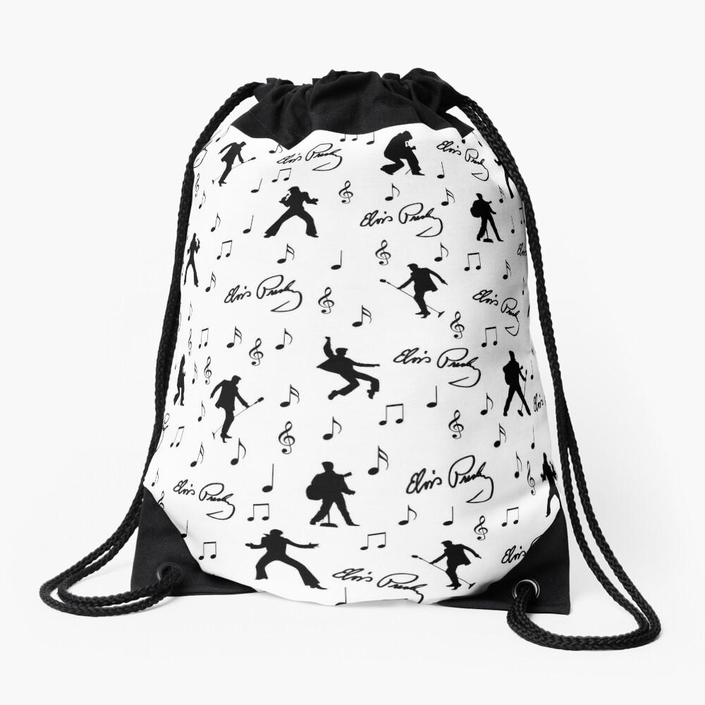 Elvis Presley pattern Drawstring Bag