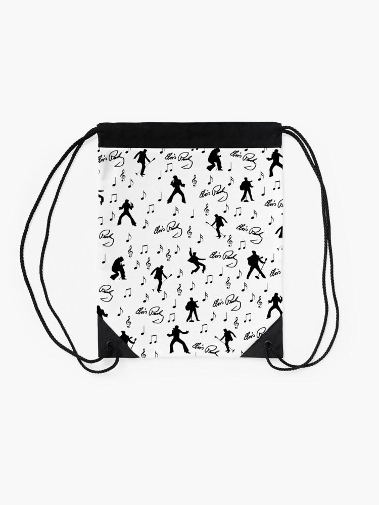 Alternate view of Elvis Presley pattern Drawstring Bag
