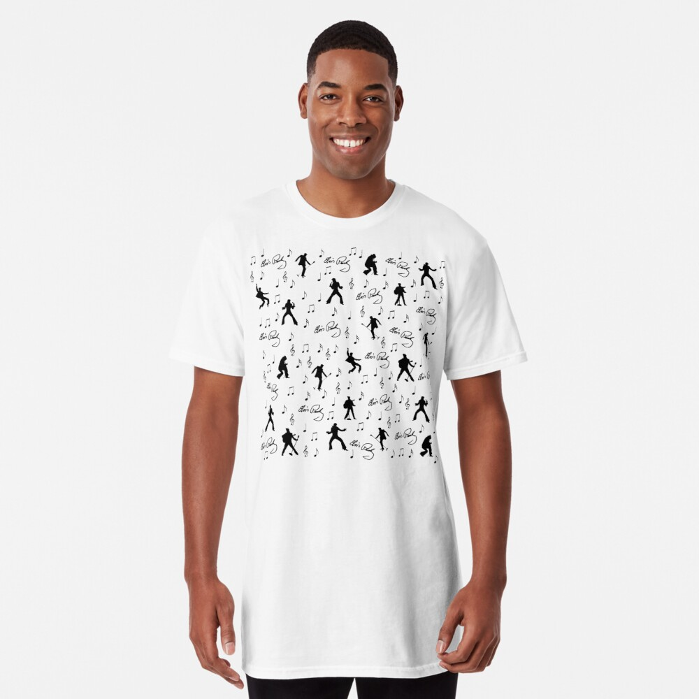 Elvis Presley pattern Long T-Shirt