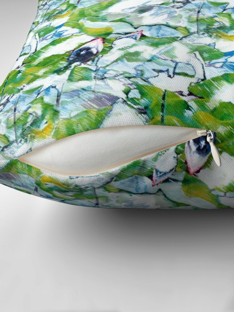 Alternate view of Water Lilies Throw Pillow