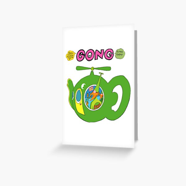 Flying Teapot Greeting Card
