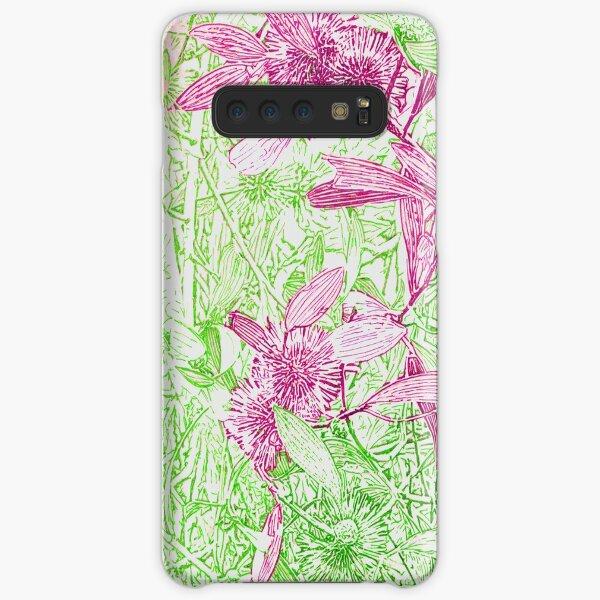 Hakea, Pink and Green Samsung Galaxy Snap Case