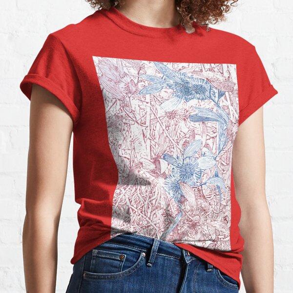 Hakea, Red and Blue Classic T-Shirt