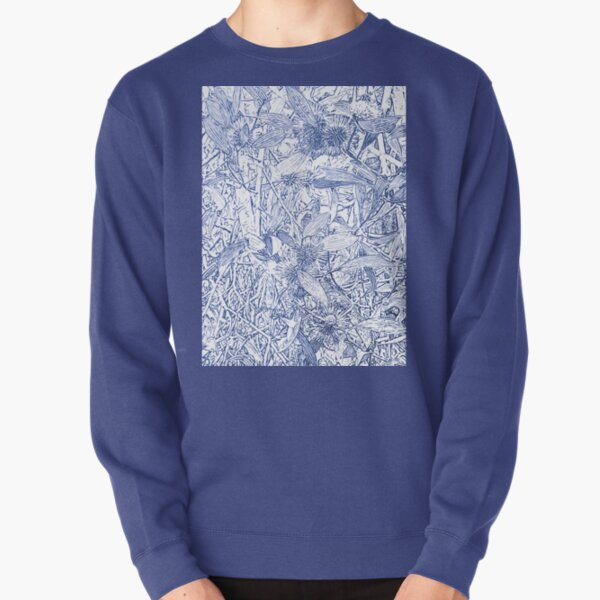 Hakea, Blue Pullover Sweatshirt
