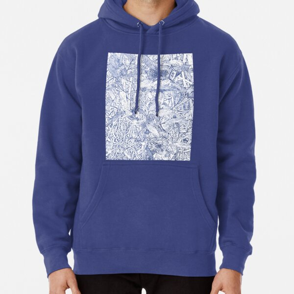 Hakea, Blue Pullover Hoodie