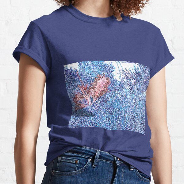 Red and Blue Grevillea Classic T-Shirt