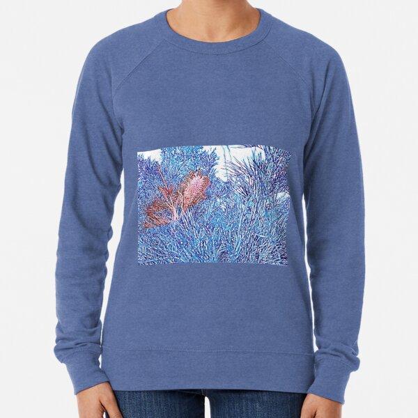 Red and Blue Grevillea Lightweight Sweatshirt