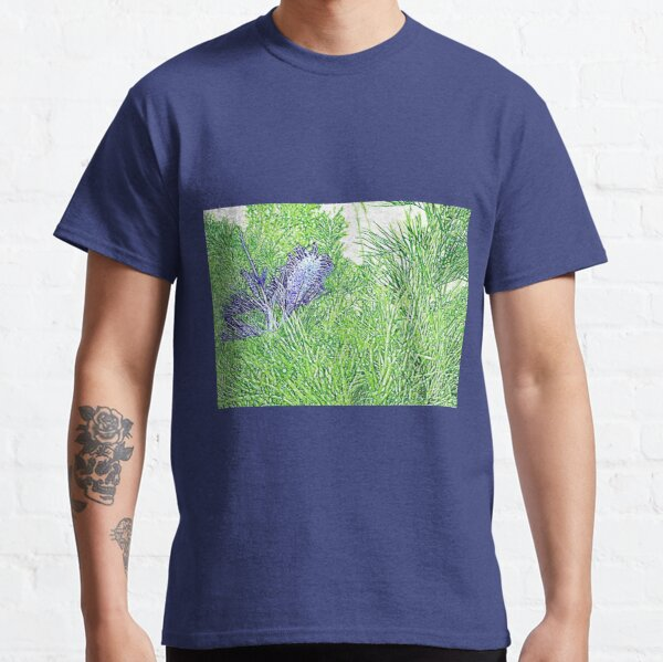 Green and Blue Grevillea Classic T-Shirt
