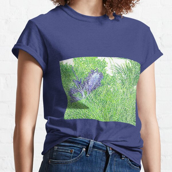 Green and Blue Grevillea Classic T-Shirt