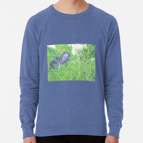 Green and Blue Grevillea Lightweight Sweatshirt