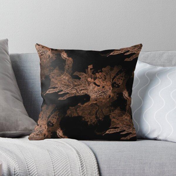 Carrickalinga Waves Copper Throw Pillow