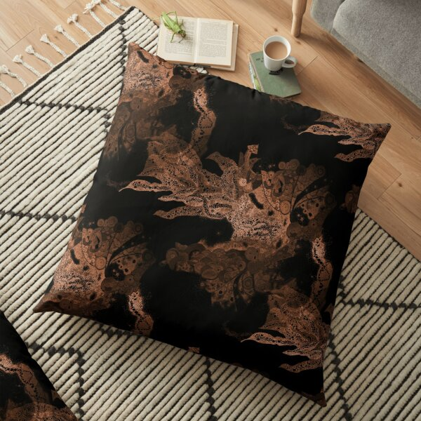 Carrickalinga Waves Copper Floor Pillow