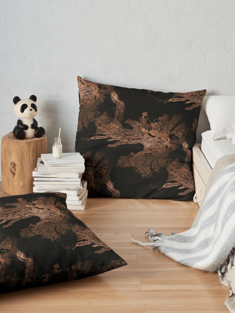 Alternate view of Carrickalinga Waves Copper Floor Pillow