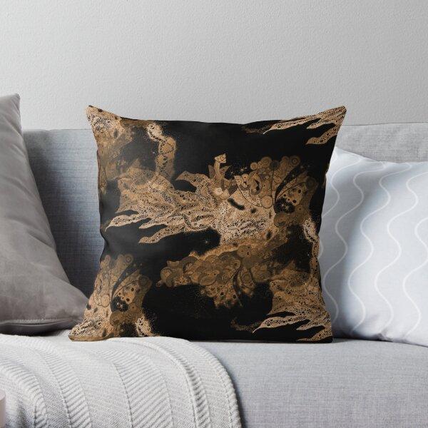 Carrickalinga Waves Gold Throw Pillow