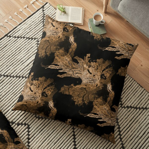 Carrickalinga Waves Gold Floor Pillow