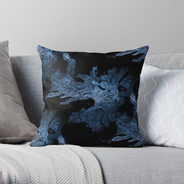 Carrickalinga Waves Indigo Throw Pillow