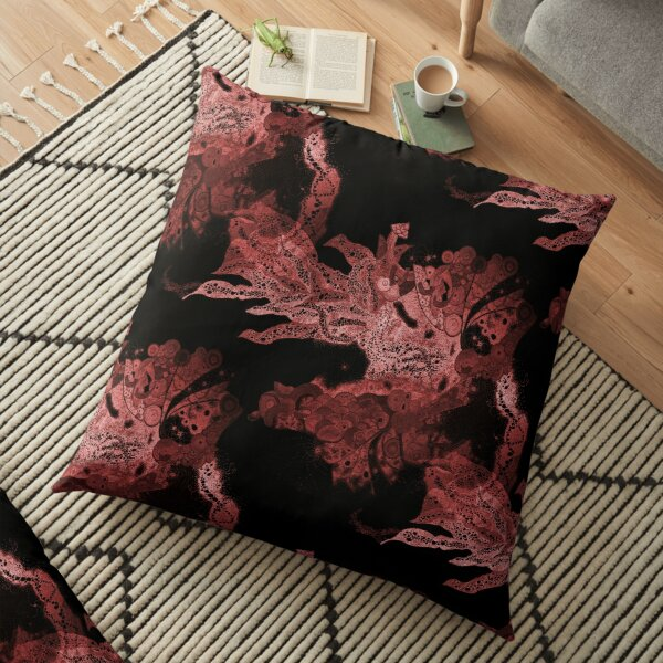 Carrickalinga Wave Red Floor Pillow