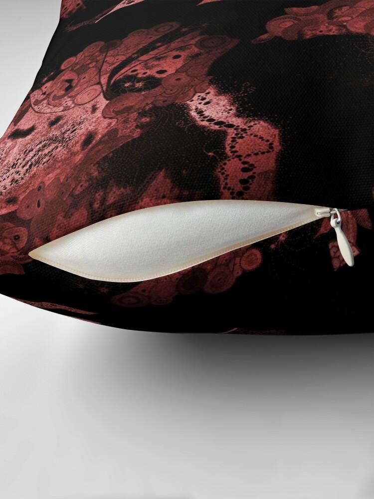 Alternate view of Carrickalinga Wave Red Floor Pillow