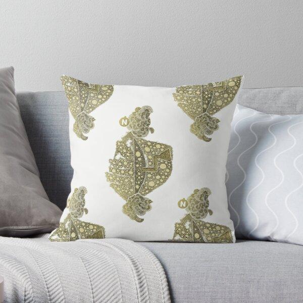 Carrickalinga Map 1 Gold Throw Pillow