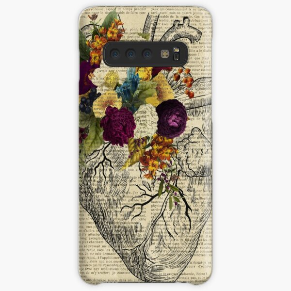 clinic floral heart  Samsung Galaxy Snap Case