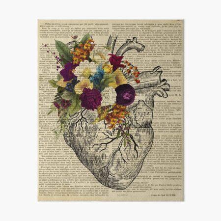 clinic floral heart  Art Board Print