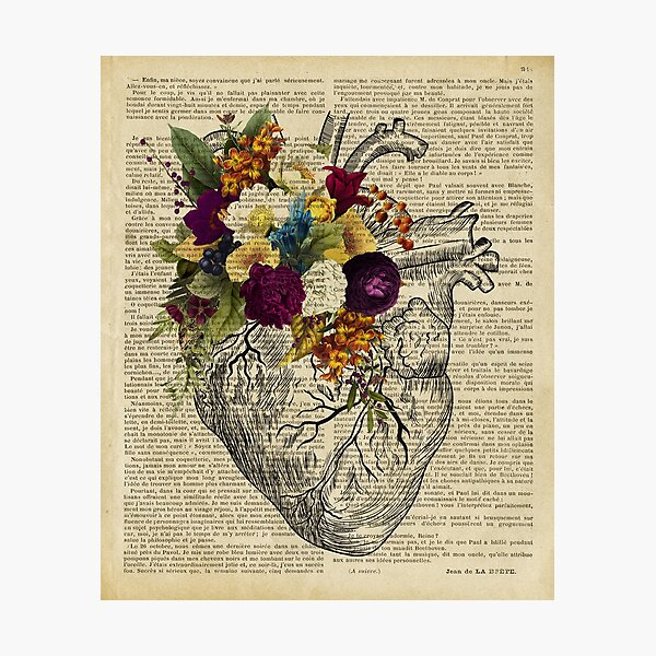 clinic floral heart  Photographic Print