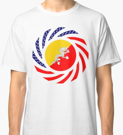Bhutanese American Multinational Patriot Flag Series Classic T-Shirt